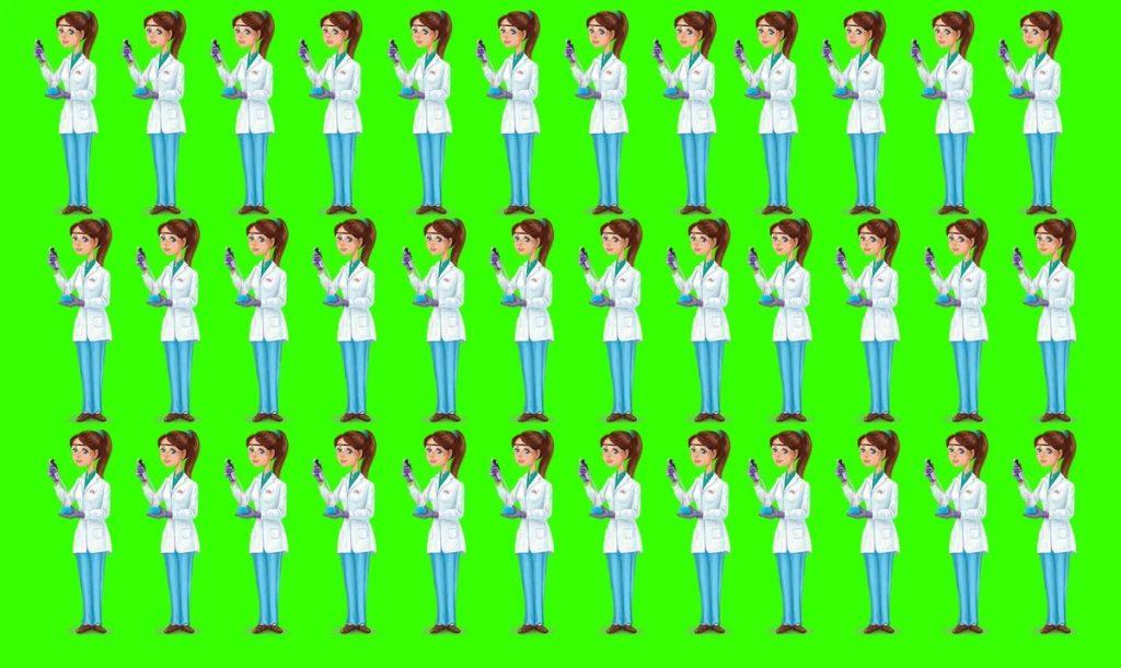 Тест: помогите найти девушку доктора на изображении